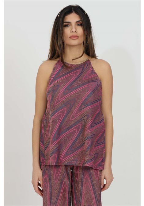 Purple blouse with glitter pattern and geometric print. Missoni MISSONI | Blouse | 2DK00074-2J0051L302N