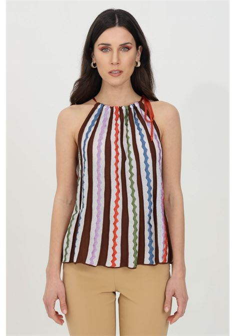 Multicolor top, closure with laces around the neck. Missoni MISSONI | Top | 2DK00080-2K008SS00H9