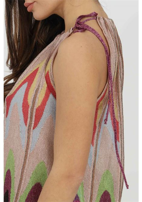 Multicolor top with crew-neck and wide bottom by missoni MISSONI | Top | 2DK00097-2K009DL302V
