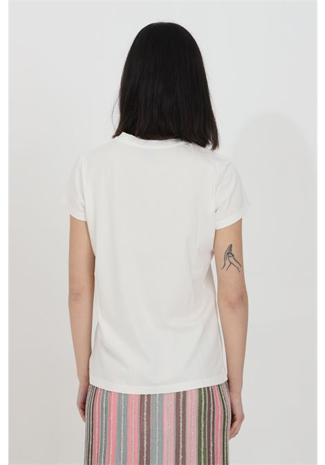 White t-shirt with front print, short sleeves. Comfortable model. Missoni MISSONI | T-shirt | 2DL00086-2J005F14300