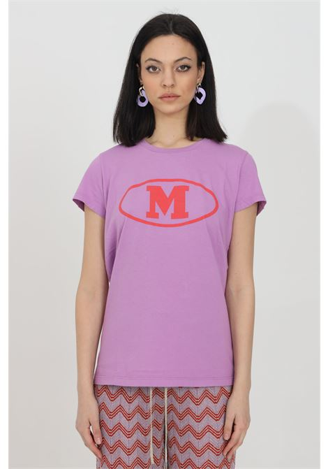 Purple t-shirt with front print, short sleeves. Comfortable model. Missoni MISSONI | T-shirt | 2DL00086-2J005F63520