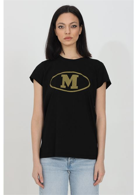 Black t-shirt with front print, short sleeves. Comfortable model. Missoni MISSONI | T-shirt | 2DL00086-2J005F93911