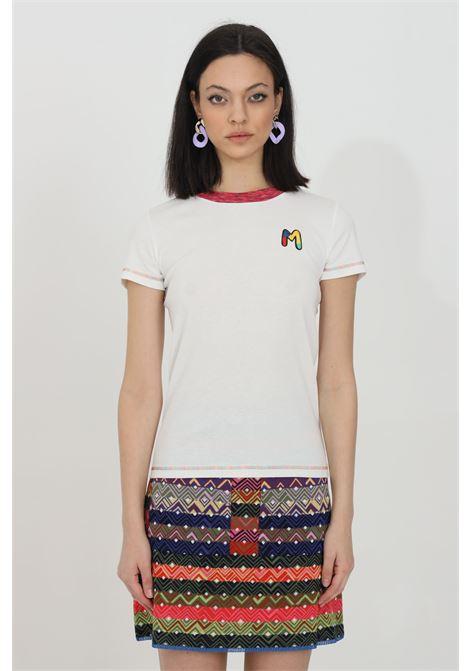 T-shirt con logo ricamato sul fronte MISSONI | T-shirt | 2DL00088-2J002U14300