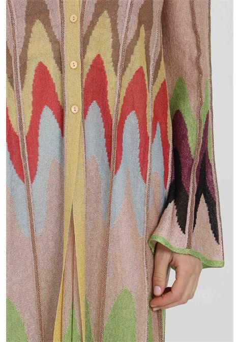 Multicolor cardigan, long model with buttons and increasing geometric print. Missoni MISSONI | Cardigan | 2DM00162-2K009DL302V