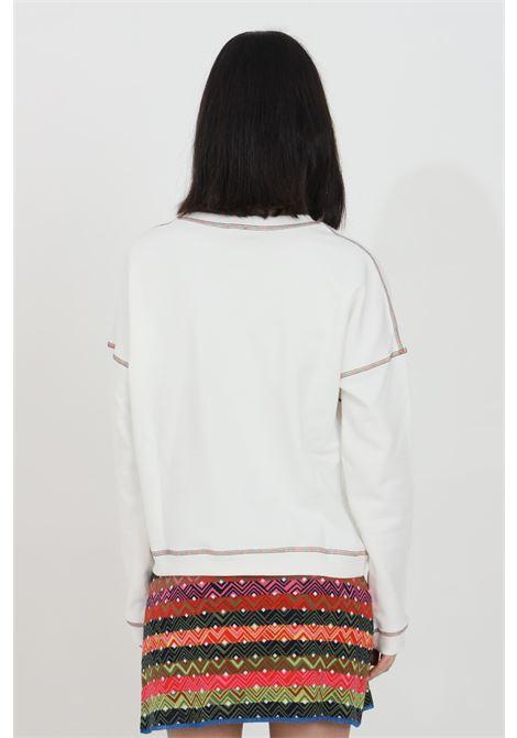 Crew neck sweatshirt with maxi embroidered logo MISSONI | Sweatshirt | 2DW00005-2J005KS00HH