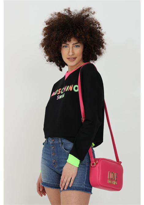 Black sweatshirt with neon print on the front. Fluo crew neck, bottom and cuffs with ribs. Moschino MOSCHINO | Sweatshirt | A170121170555