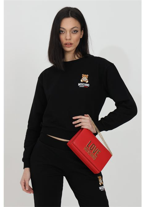 Black sweatshirt with bear logo on the front, ribbed bottom and cuffs. Moschino MOSCHINO | Sweatshirt | A171390200555
