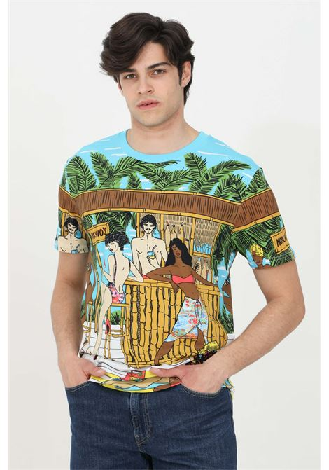T-shirt con stampa grafica allover MOSCHINO | T-shirt | A190723328888