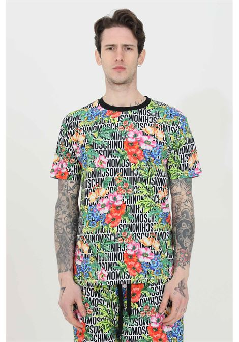 T-shirt con stampa flower allover MOSCHINO | T-shirt | A191081221001