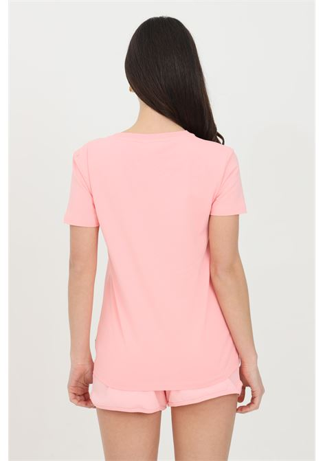 T-shirt donna rosa moschino a manica corta con stampa orso frontale MOSCHINO | T-shirt | A191290210181