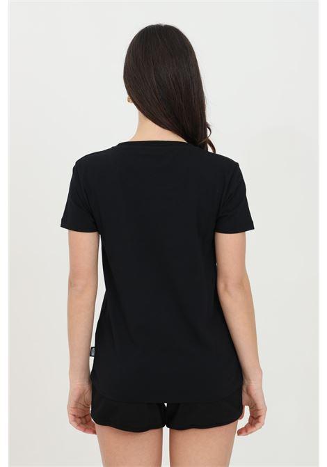 T-shirt donna nera moschino a manica corta con stampa orso frontale MOSCHINO | T-shirt | A191290210555