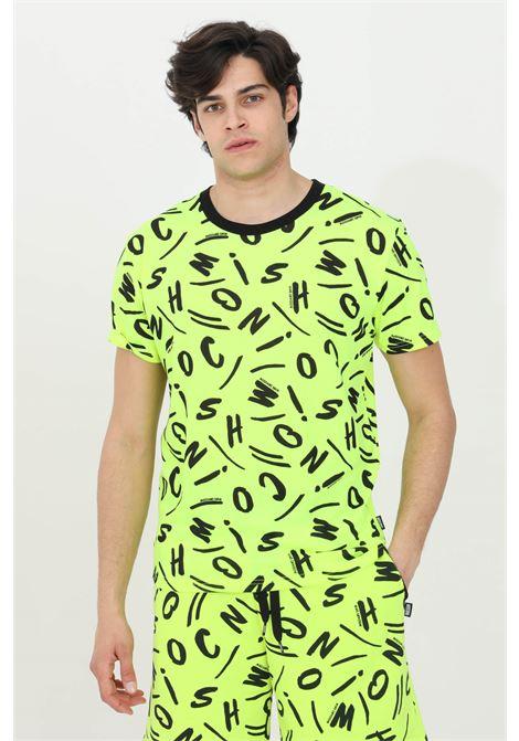 T-shirt girocollo con stampa allover pattern MOSCHINO | T-shirt | A191323401026