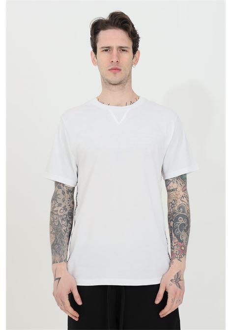 T-shirt basic girocollo con bande logate MOSCHINO | T-shirt | A191381250001