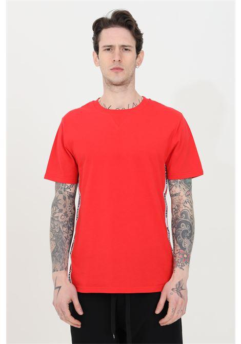 T-shirt basic girocollo con bande logate MOSCHINO | T-shirt | A191381250113