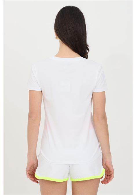T-shirt donna bianca Moschino manica corta con logo frontale MOSCHINO   T-shirt   A191921160001