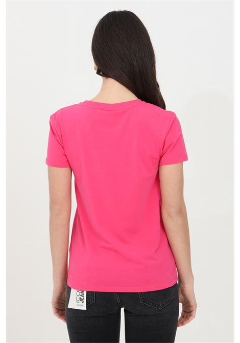 T-shirt donna fucsia Moschino manica corta con logo frontale MOSCHINO   T-shirt   A191921160219