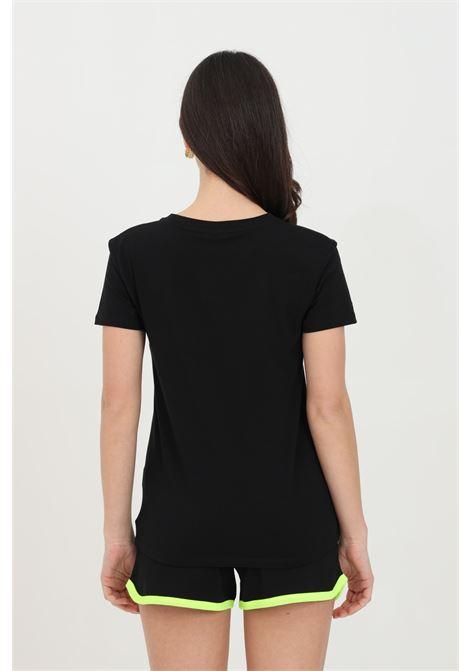 T-shirt donna fucsia Moschino manica corta con logo frontale MOSCHINO   T-shirt   A191921160555