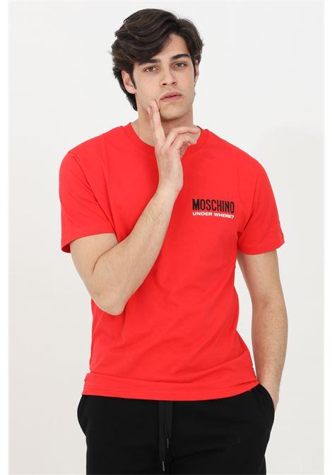 T-shirt girocollo con logo sul fronte MOSCHINO | T-shirt | A192281250113