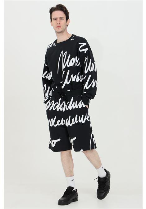 Shorts con molla in vita e stampa script MOSCHINO | Shorts | A430981111555