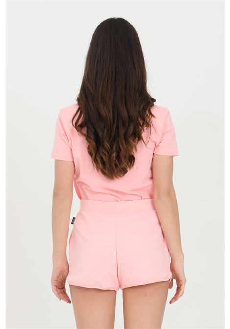 Shorts donna rosa moschino casual con stampa bear, vita elasticizzata con coulisse e due tasche frontali MOSCHINO | Shorts | A431090200181