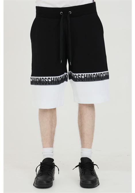 Shorts bicolore con fascia logata e molla in vita MOSCHINO | Shorts | A431581201555
