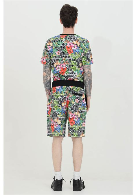 Shorts con stampa lettering flower allover MOSCHINO | Shorts | A431781221001