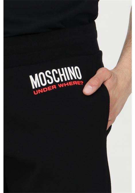 Shorts tinta unita con logo goffrato MOSCHINO | Shorts | A432381270555