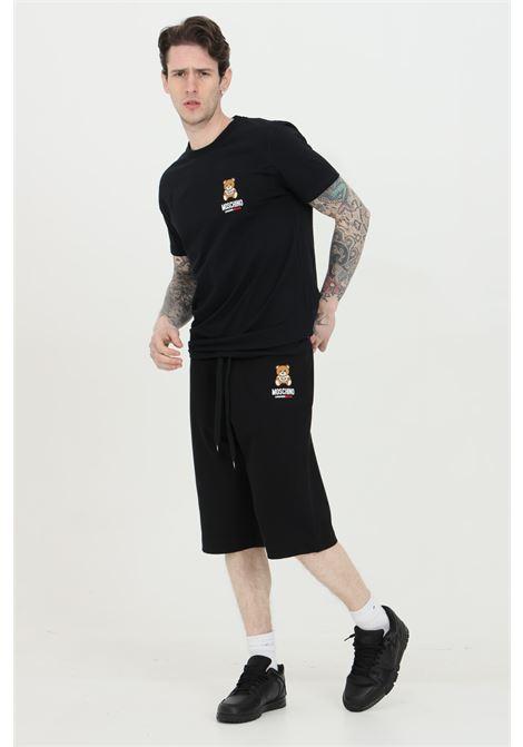 Shorts con molla in vita e stampa bear MOSCHINO | Shorts | A432581200555