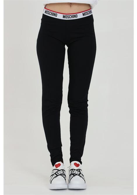 Leggings in tinta unita con molla in vita MOSCHINO | Leggings | A432790030555