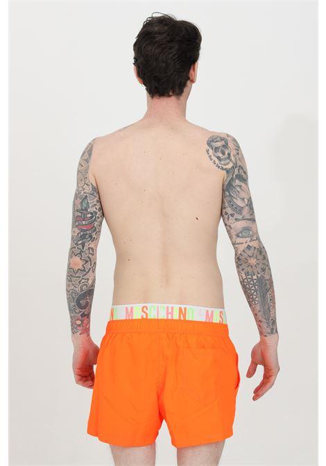 Shorts mare con banda logata muticolor MOSCHINO | Beachwear | A610923020125