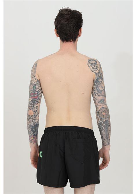 Shorts mare con stampa logo laterale multicolor MOSCHINO | Beachwear | A615459890555