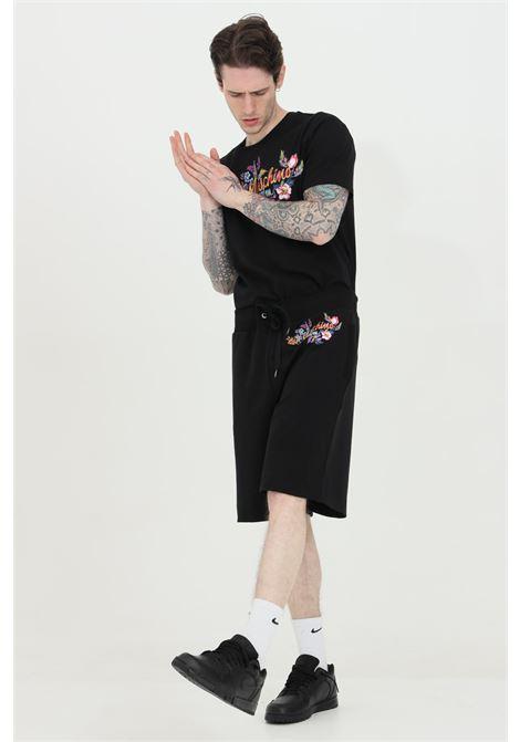Shorts con molla in vita e stampa effetto tempera MOSCHINO | Shorts | A670323170555