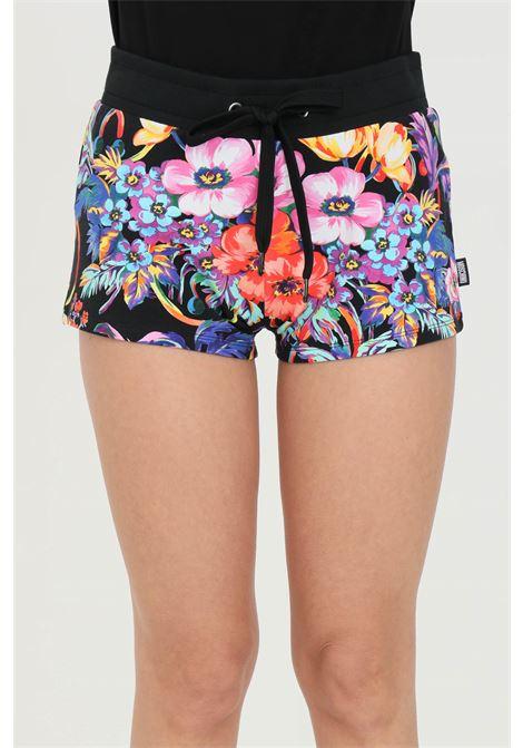 Shorts donna multicolor moschino casual floreale con vita elasticizzata con coulisse e due tasche a soffietto MOSCHINO | Shorts | A670621121555