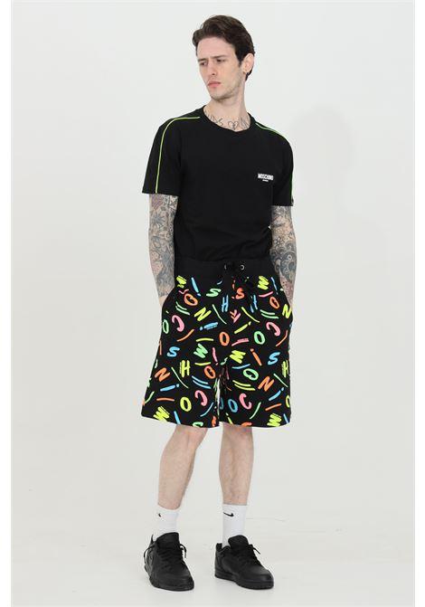 Shorts con elastico in vita e stampa pattern multicolor MOSCHINO | Shorts | A671323425888