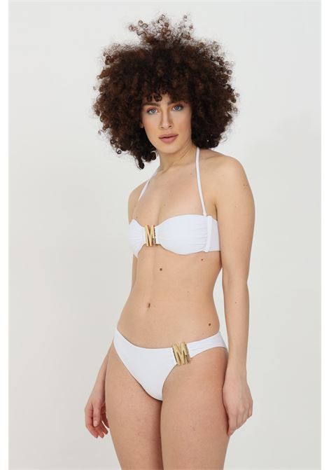 White sea slip with gold monogram buckle. Slim fit. Moschino MOSCHINO | Beachwear | A714452110001