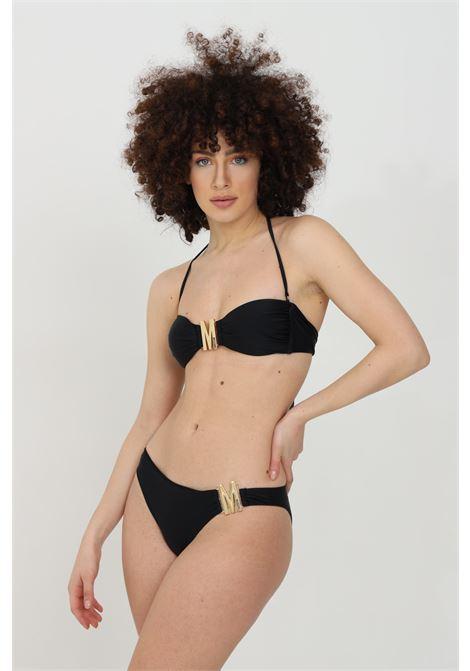 Black sea slip with gold monogram buckle. Slim fit. Moschino MOSCHINO | Beachwear | A714452110555