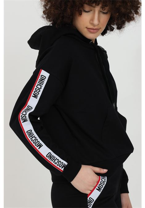 Hoodie with logate bands MOSCHINO | Sweatshirt | V171490200555