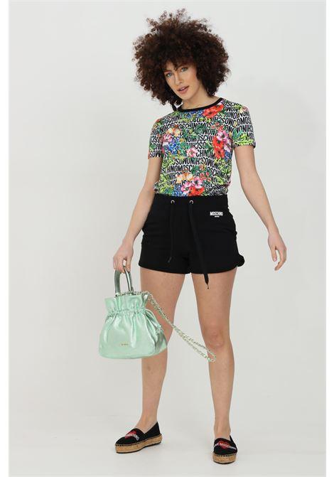 Shorts donna nero moschino casual con molla in vita MOSCHINO   Shorts   V671621170555