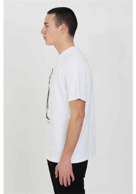 White t-shirt with short sleeves and martin rose print on the front. Comfortable model. Napapijri NAPAPIJRI BY MARTINE ROSE | T-shirt | NP0A4FH1002
