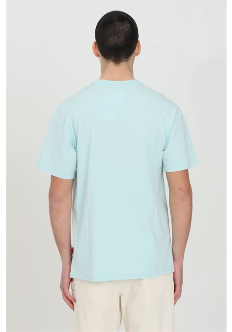 Light blue t-shirt with short sleeves and martin rose print on the front. Comfortable model. Napapijri NAPAPIJRI BY MARTINE ROSE | T-shirt | NP0A4FH1IR2