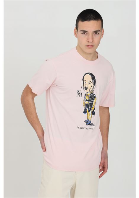 Pink t-shirt with short sleeves and martin rose print on the front. Comfortable model. Napapijri NAPAPIJRI BY MARTINE ROSE | T-shirt | NP0A4FH1PR2
