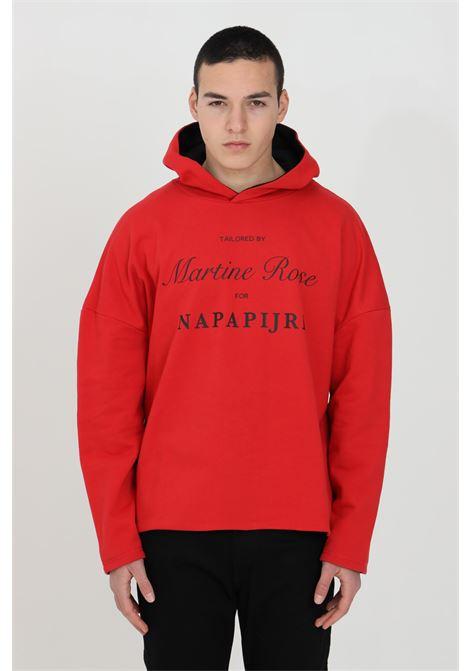 Felpa B-Parma uomo rosso napapijri con cappuccio, modello reversibile con stampa frontale con il logo Napa x Martine Rose NAPAPIJRI BY MARTINE ROSE | Felpe | NP0A4FIMRR5