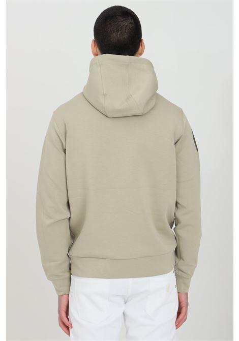 Sand Ohau hoodie with front logo in contrast and elastic cuffs and bottom. Napapijri  NAPAPIJRI | Sweatshirt | NP0A4F38G5L1G5L1