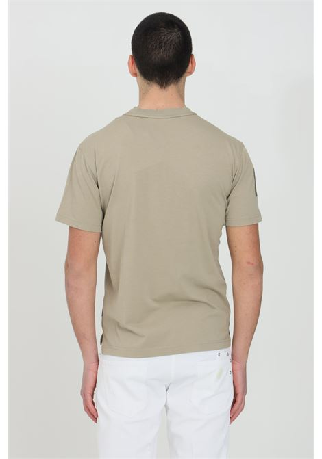 Sand t-shirt with front logo, basic model, short sleeve. Napapijri  NAPAPIJRI | T-shirt | NP0A4F3AG5L1G5L1