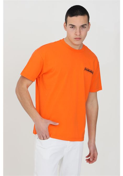 Orange jurassic t-shirt with crew neck and maxi logo print on the back, short sleeve. Napapijri NAPAPIJRI | T-shirt | NP0A4F5KA1A1A1A1