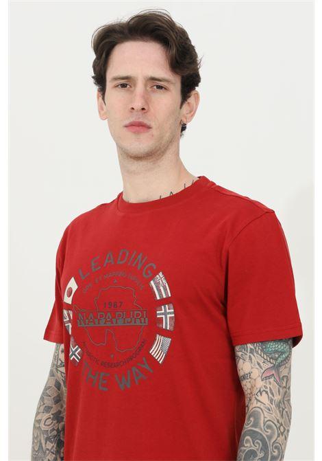 T-shirt girocollo con stampa sul fronte NAPAPIJRI | T-shirt | NP0A4F6P09410941