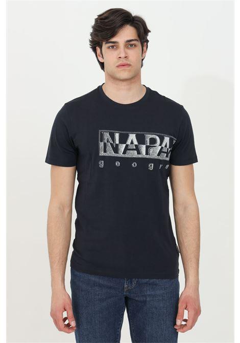Blue sallar logo t-shirt with logo print on the front, short sleeve. Ribbed crew neck. Napapijri NAPAPIJRI | T-shirt | NP0A4F9N17611761