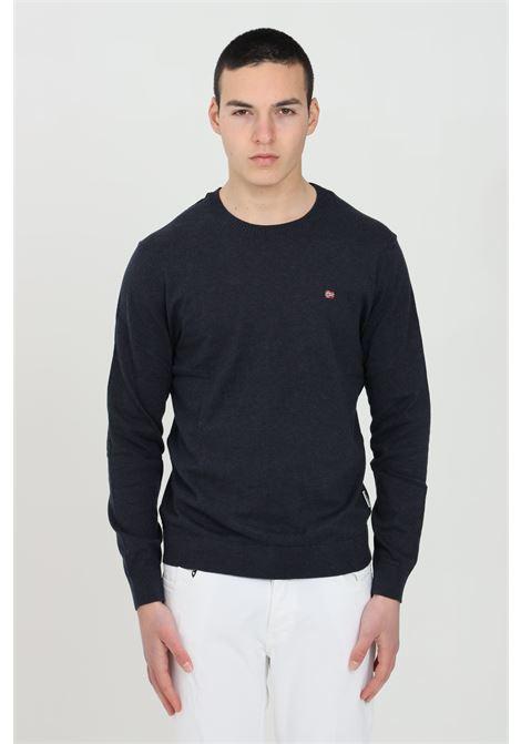 Blue Decatur sweater with crew neck, lightweight model. Napapijri NAPAPIJRI | Knitwear | NP0A4F9Z17611761