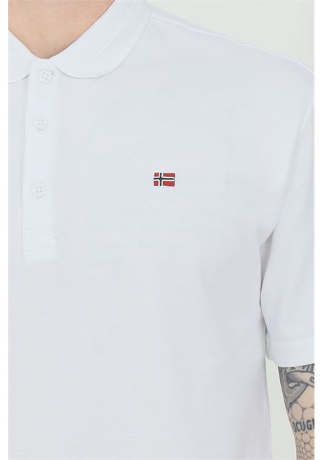 White polo shirt with buttons and small logo on the front, basic model. Napapijri NAPAPIJRI | Polo Shirt | NP0A4FA300210021