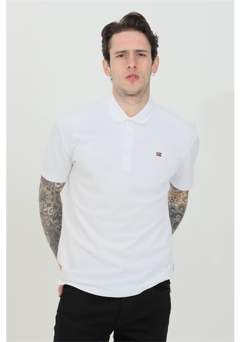 Polo uomo bianco napapijri modello basic con bottoni e mini logo frontale. Regular fit NAPAPIJRI | Polo | NP0A4FA300210021
